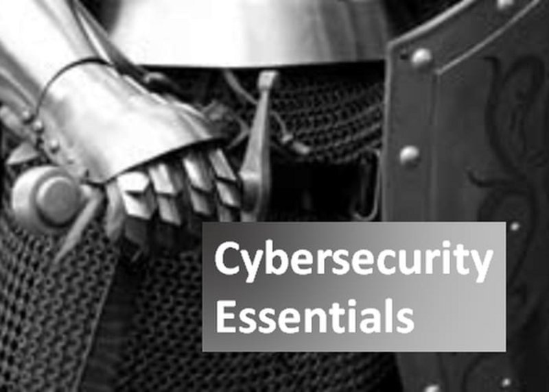 "Ritter mit Text ""Cybersecurity Essentials"""
