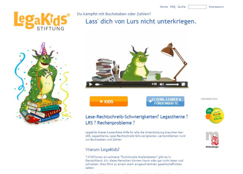 Screenshot LegaKids.net