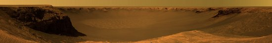 Panorama des Victoria Kraters vom Cap Verde; Opportunity (NASA)