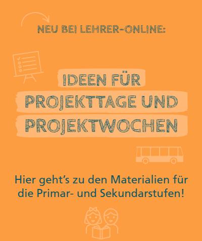 """Banner """"Projekttage und Projektwochen"""""""