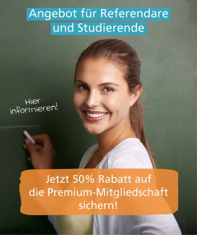 Premium-Angebot für Referendare und Studierende