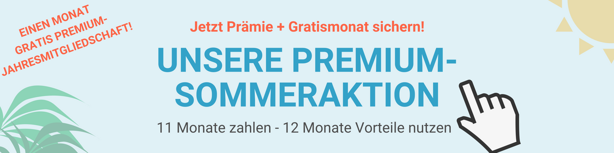 Sommeraktion: 1 Monat gratis