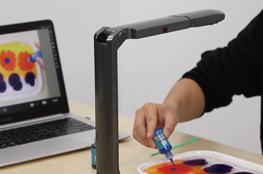 Dokumentenkamera, Hand und Laptop