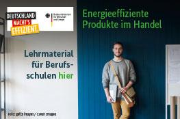 Schüler der Berufsschule lernt etwas zum Thema Energieeffizienz