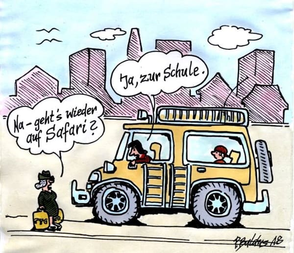 Cartoon von Peter Baldus: Safari
