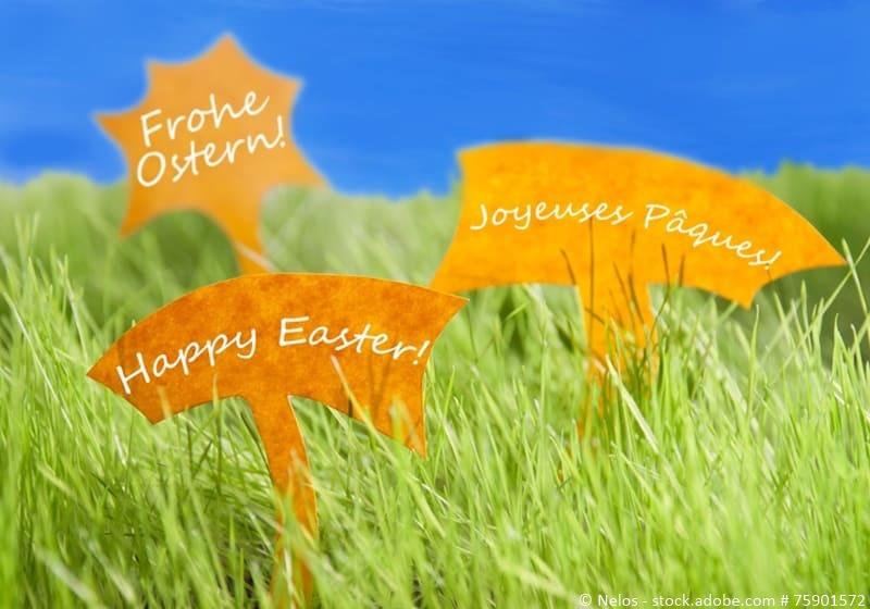 Ostern auf unterschiedlichen Sprachen