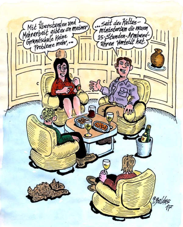 Cartoon der Woche: Armbanduhr | von Peter Baldus