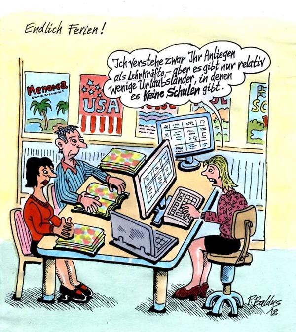Cartoon der Woche: Endlich Ferien | von Peter Baldus