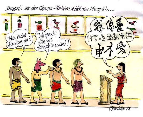 Cartoon der Woche: Fachchinesisch | von Peter Baldus