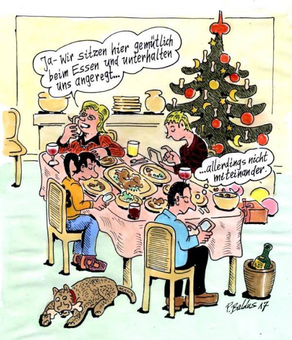 Cartoon der Woche: Heiligabend | von Peter Baldus