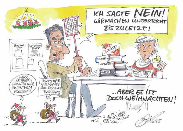Cartoon der Woche: Kurz vor Weihnachten | von Michael Hüter