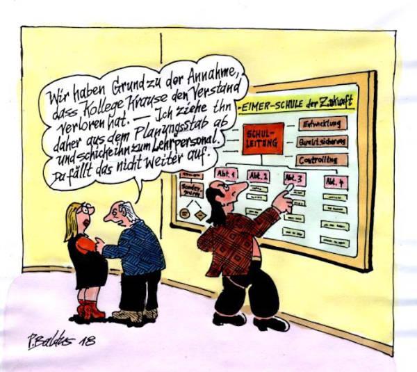 Cartoon der Woche: Planungsstab | von Peter Baldus