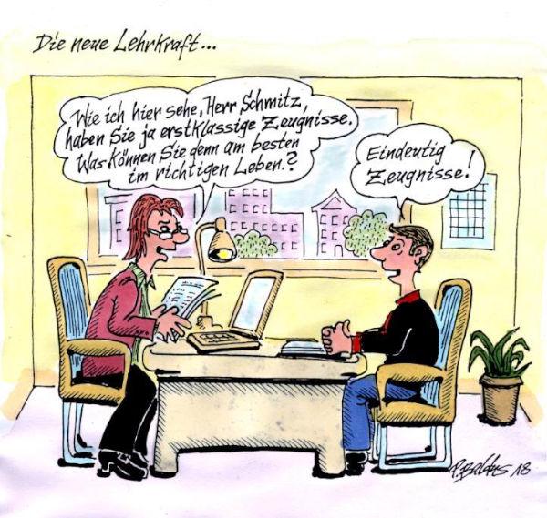 Cartoon der Woche: Zeugnisse | von Peter Baldus