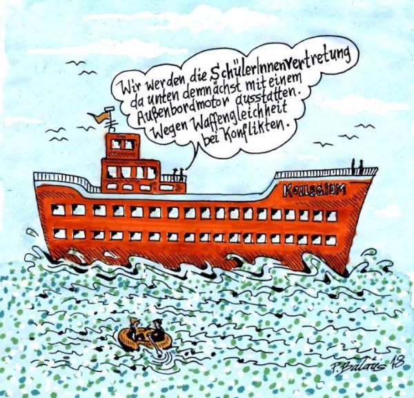 Cartoon der Woche: Waffengleichheit | von Peter Baldus