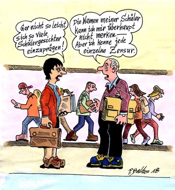 Cartoon Einprägsam von Peter Baldus