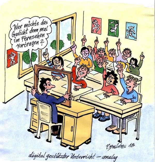 Cartoon Digital gestützt von Peter Baldus