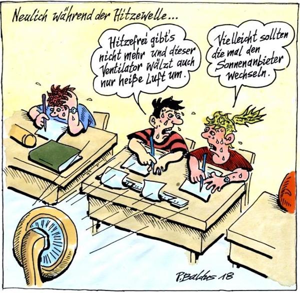 Cartoon Hitzewelle von Peter Baldus