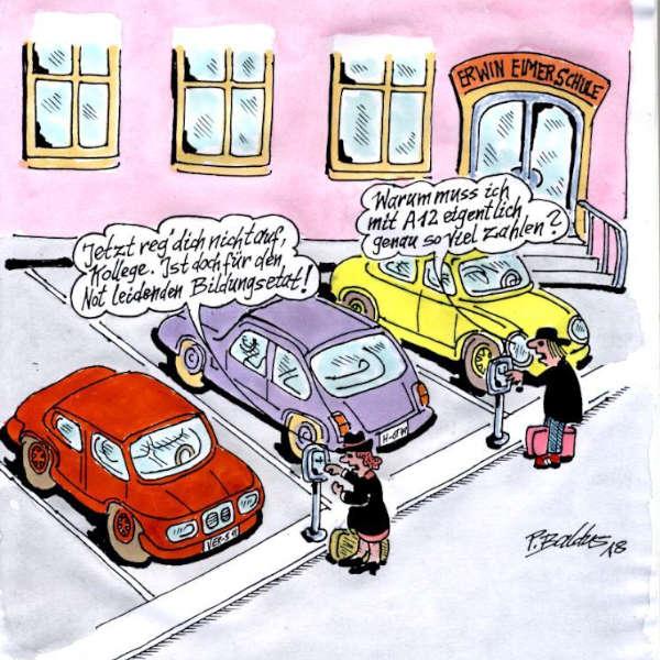 Cartoon der Woche: Parken | von Peter Baldus
