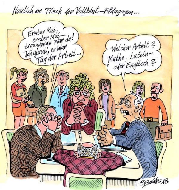 Cartoon der Woche: Vollblutpädagogen | von Peter Baldus