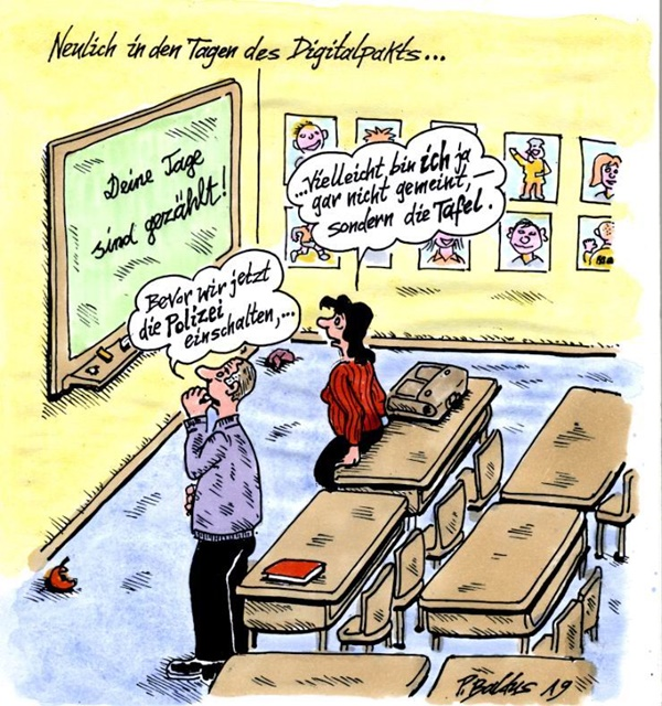 Cartoon der Woche: Digitalpakt