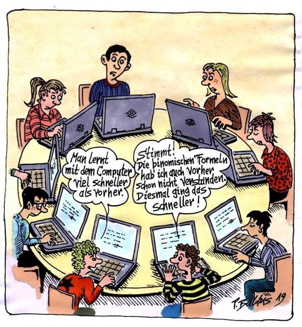 Cartoon der Woche: Schneller lernen | von Peter Baldus