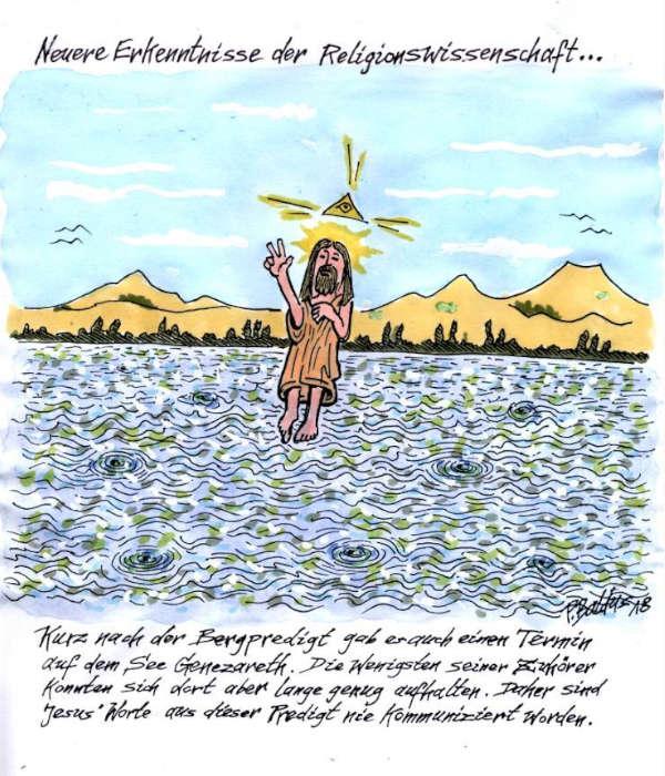 Cartoon der Woche: Seepredigt | von Peter Baldus