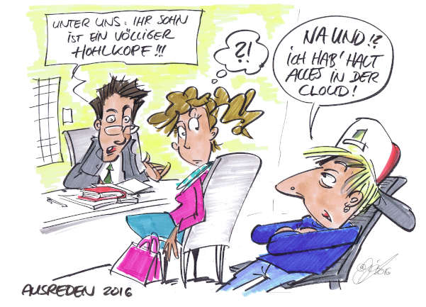 Cartoon: Ausreden | von Michael Hüter