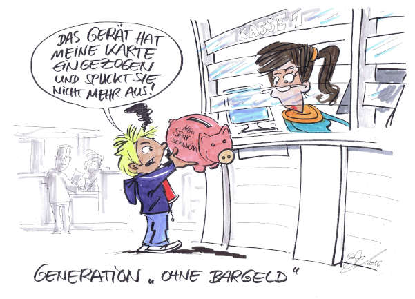 Cartoon: Bargeld | von Michael Hüter