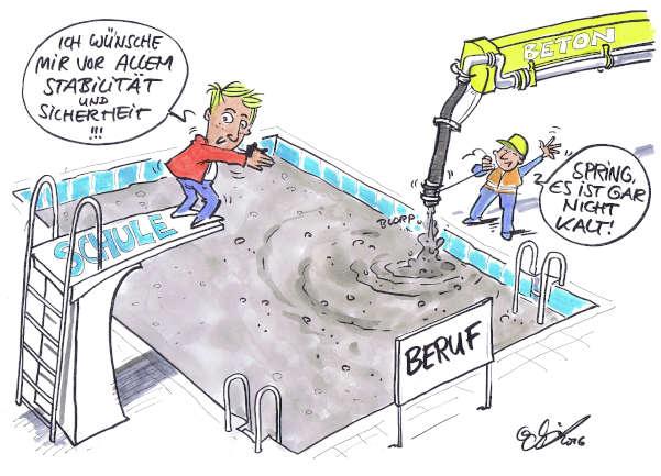 Cartoon: Berufswahlkriterien | von Michael Hüter