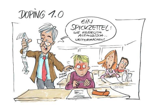 Cartoon: Doping | von Michael Hüter