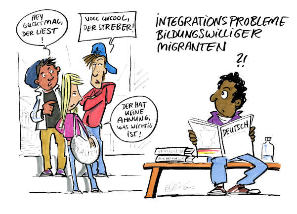 Cartoon: Integration | von Michael Hüter