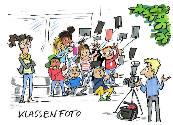 Cartoon: Klassenfoto | von Michael Hüter
