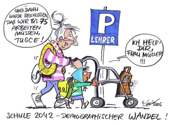 Cartoon: Schule 2042   von Michael Hüter