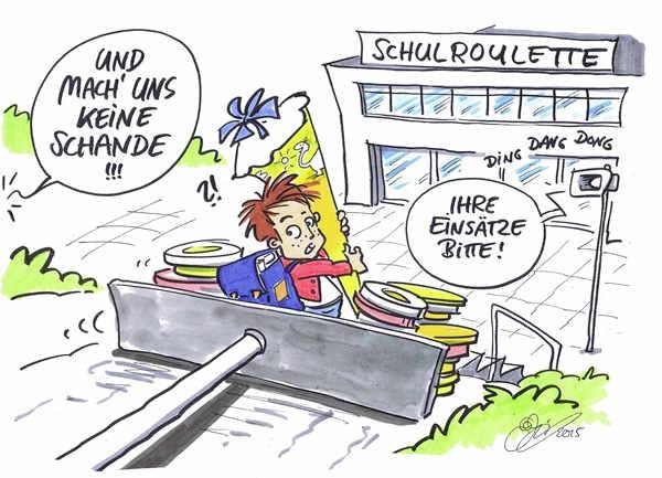 Cartoon von Michael Hüter: Spiel
