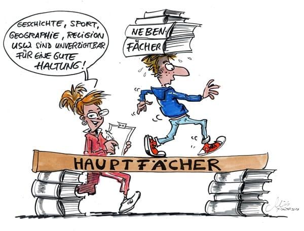 karikatur schule lehrer