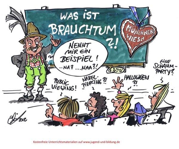 Münchner Wiesn - ein Brauchtum wie Public Viewing, Nabel-Piercing, Halloween oder eine Schaumparty?