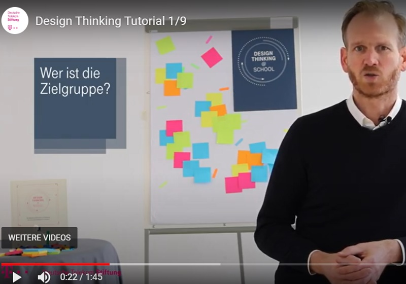 "Screenshot Video-Tutorial ""Design Thinking im Unterricht"""
