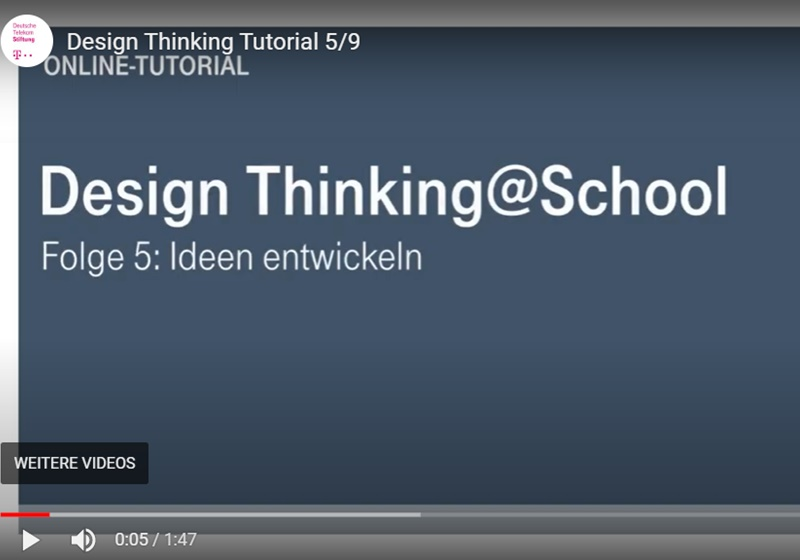 Screenshot Design Thinking Video-Tutorial Teil 5
