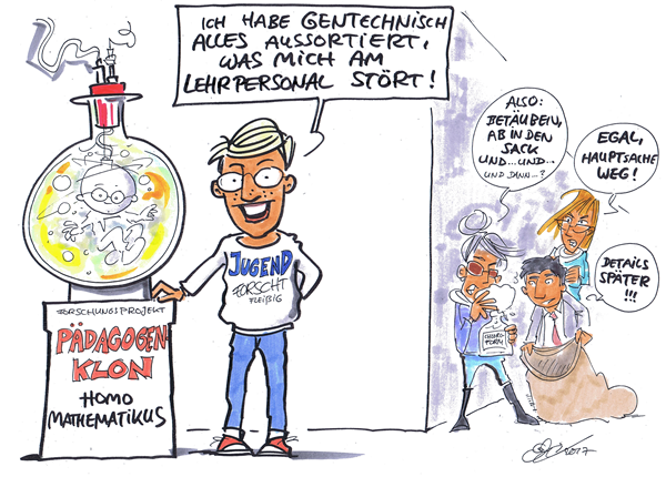 Cartoon zu Technik