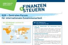 Neues Arbeitsblatt: \'G20 - Zentrales Forum für internationale ...