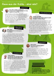 Arbeitsblatt zum Thema Klimaschutz und Kohleausstieg