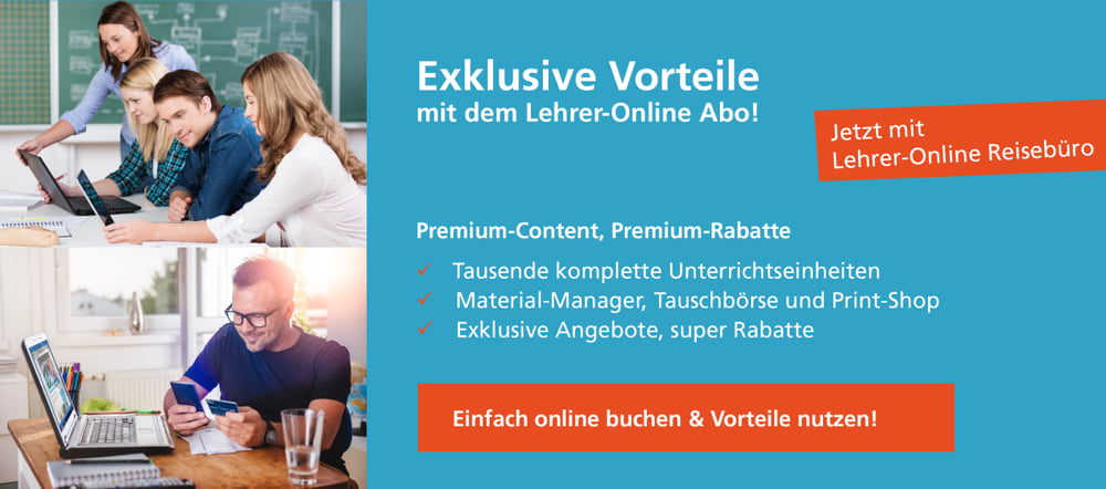 Lehrer-Online Card mit Reisevorteil