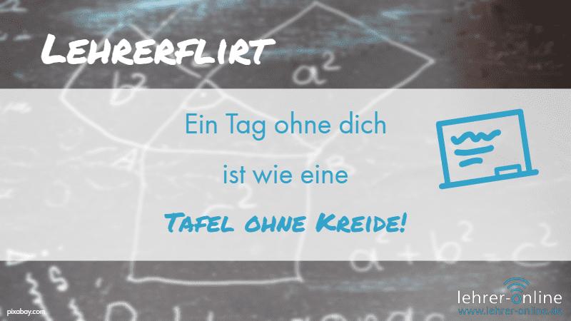 """Tafel mit Formeln aus dem Matheunterricht; Lehrerflirt: """"Ein Tag ohne dich ist wie eine Tafel ohne Kreide!"""""""