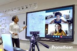 Praxisbeispiel Distanzunterricht mit Anwendung Promethean Set