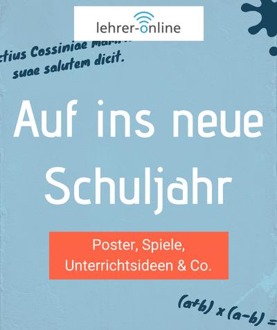 Lehrer-Online: Arbeitsblätter, Unterrichtsmaterial, Entwürfe