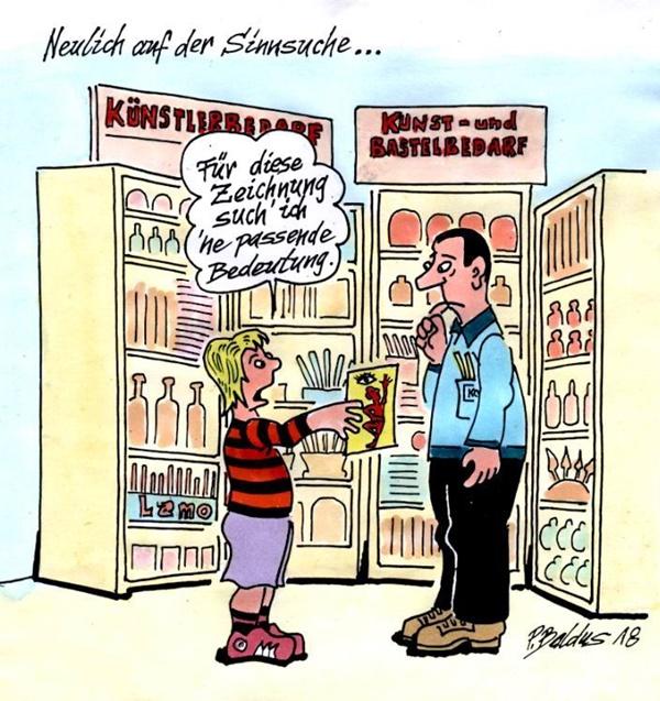 Schüler geht in Buchhandlung