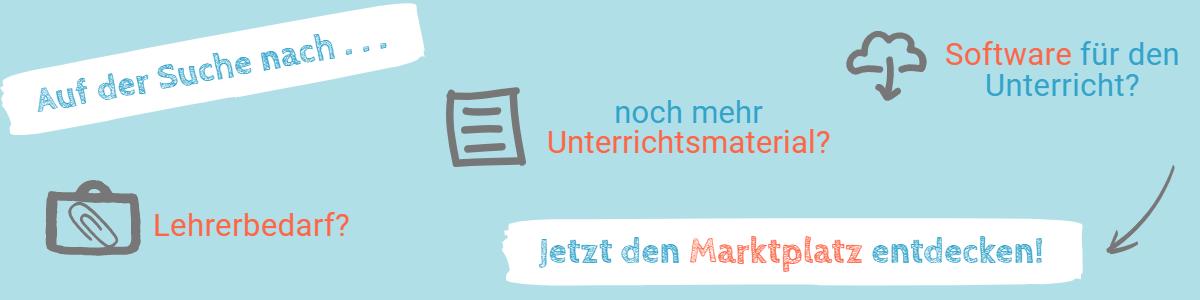 Banner Marktplatz von Lehrer-Online