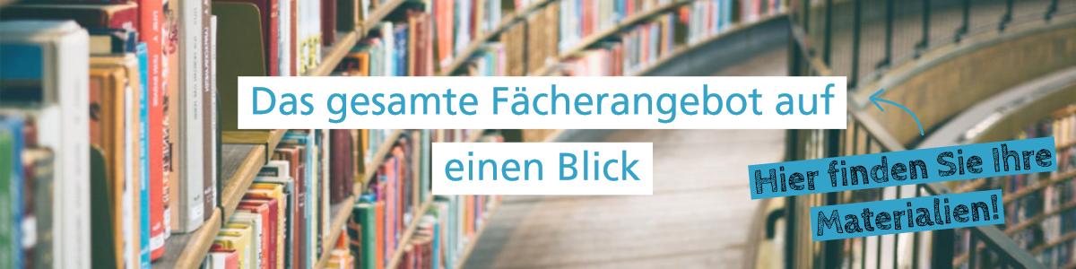 Banner Fächerangebot bei Lehrer-Online
