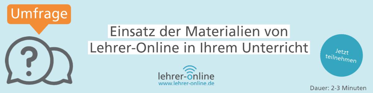 Lehrer-Online Umfrage zur Materialnutzung