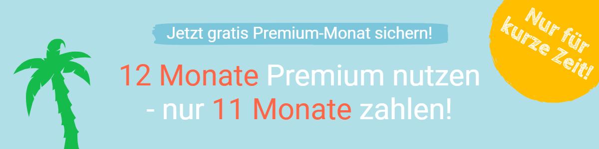 Aktion: Ein gratis Premium-Monat für Jahresmitglieder
